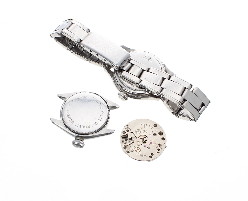 Lot 39 - Rolex stainless steel wristwatch case, ref. 28464 920, 25mm; Tudor Oyster Royal stainless steel