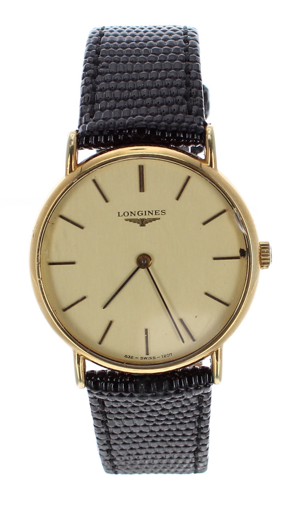 Lot 48 - Longines gold plated and stainless steel gentleman's wristwatch, case no. 20196938, circular