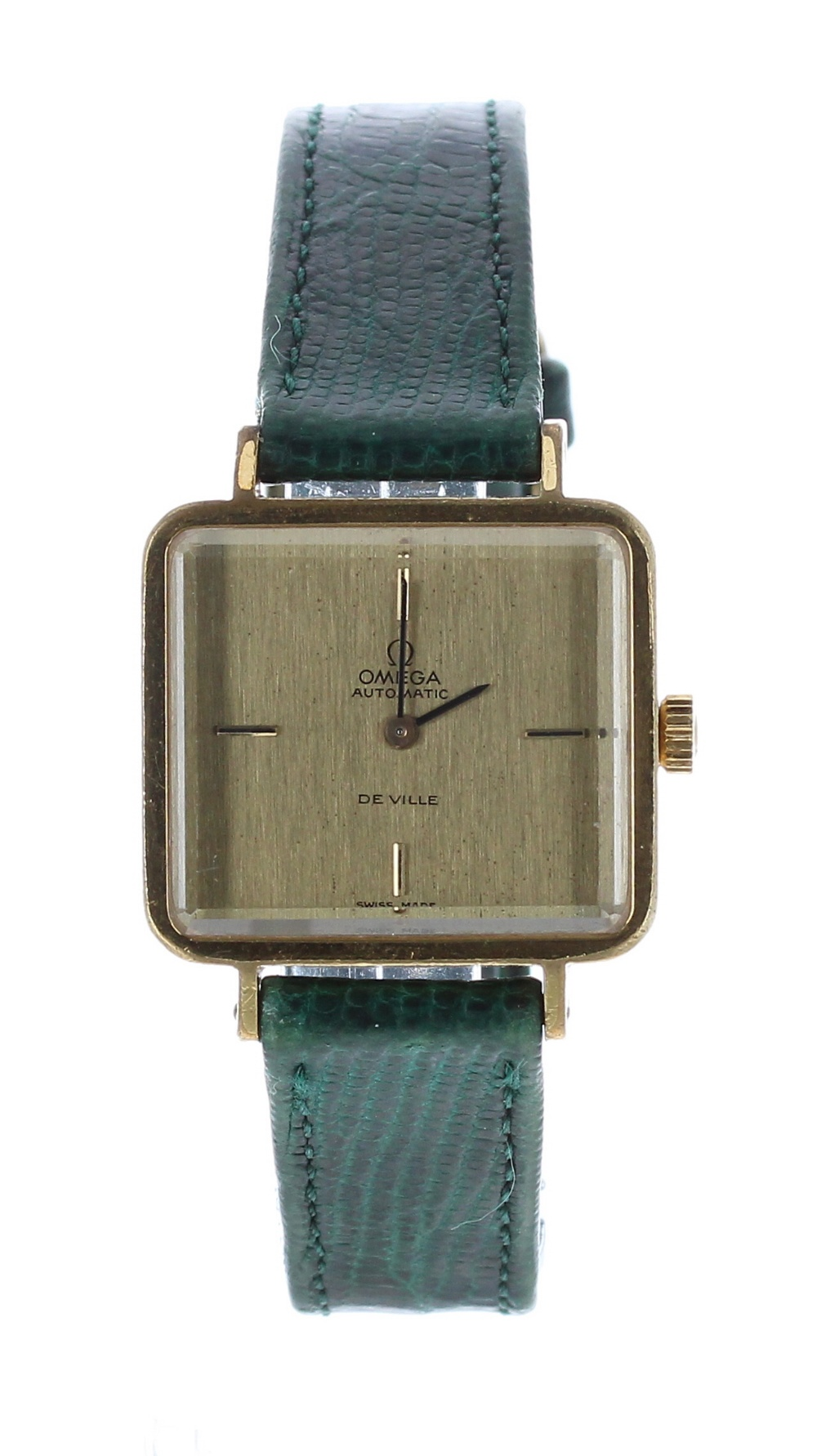 Lot 23 - Omega DeVille automatic gold plated and stainless steel lady's wristwatch, ref. 551 0061, circa