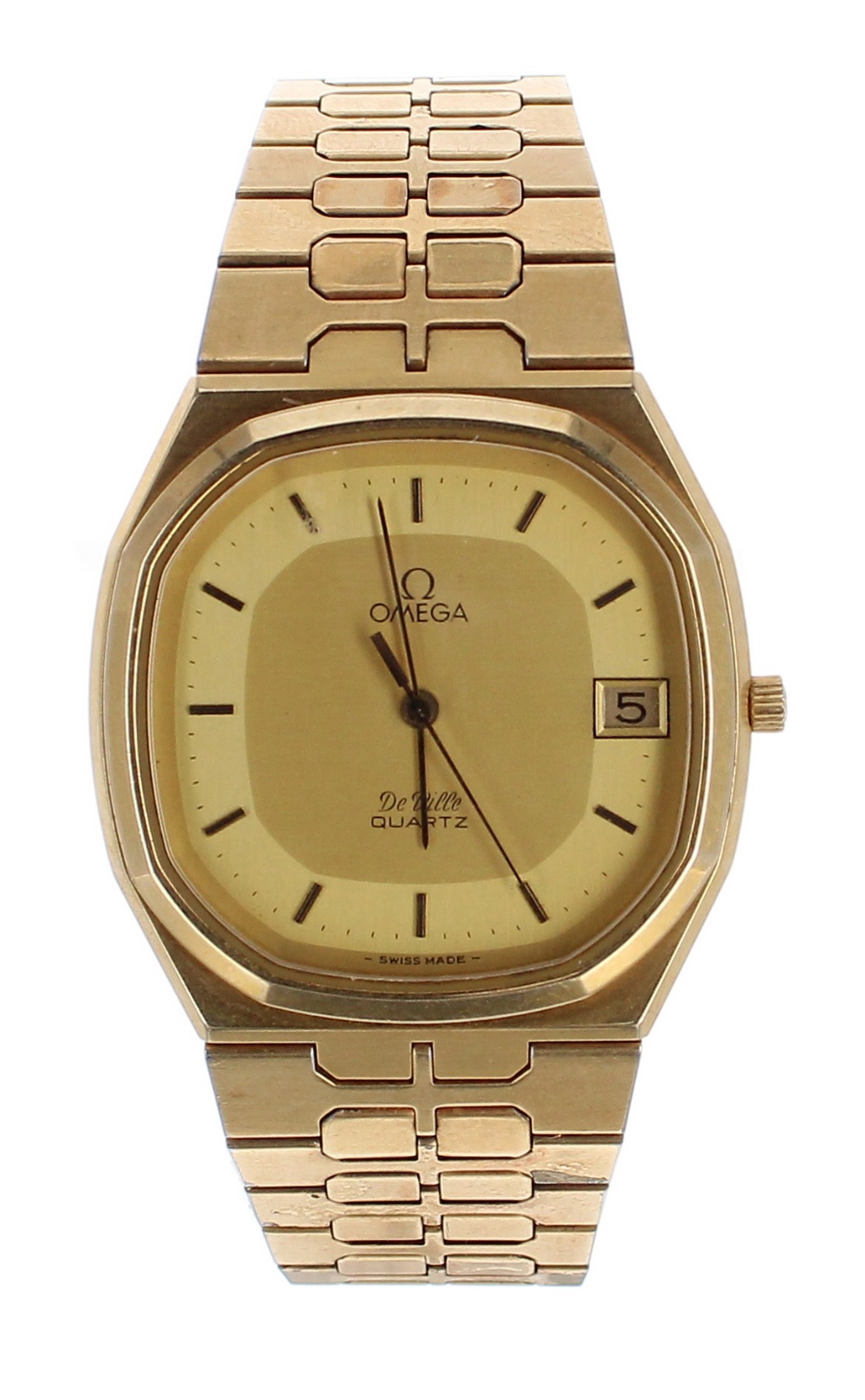 Lot 3 - Omega DeVille Quartz gold plated and stainless steel gentleman's bracelet watch, ref. 196.0145 /
