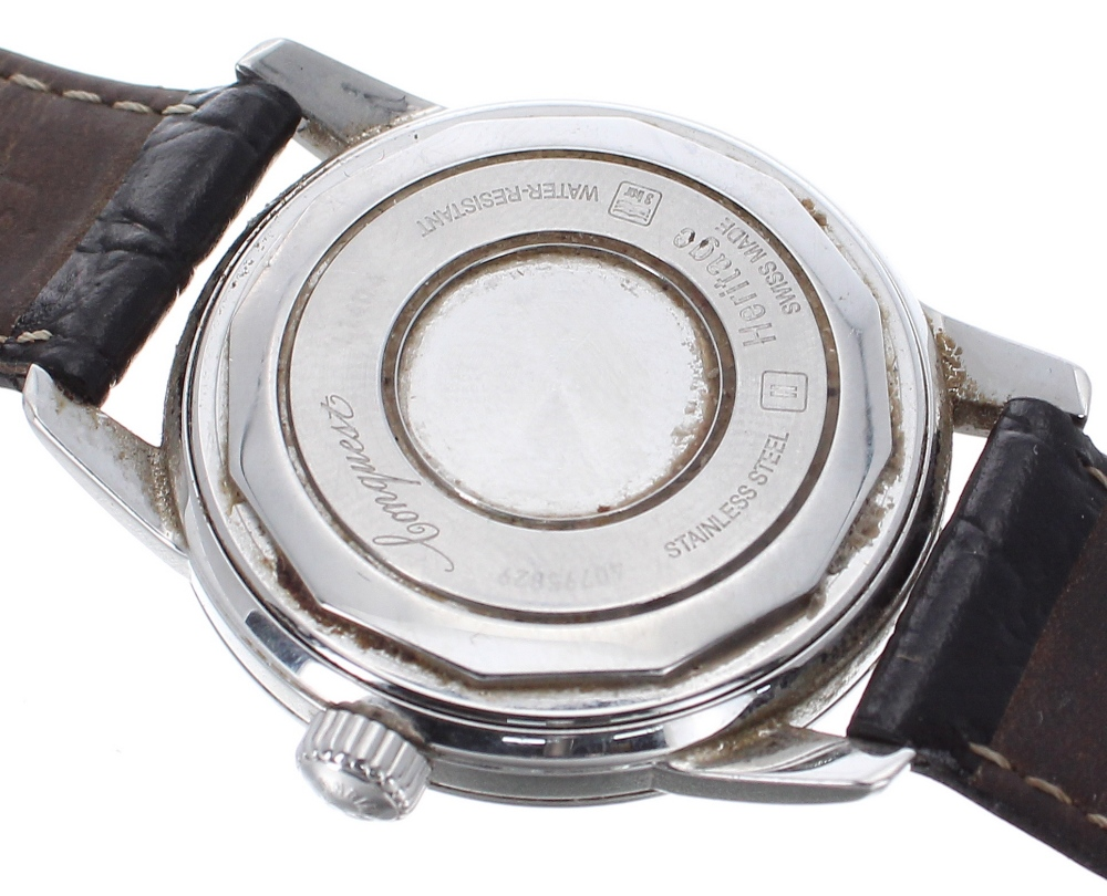 Lot 46 - Longines Conquest Heritage automatic stainless steel gentleman's wristwatch, ref. L1.611.4, circular