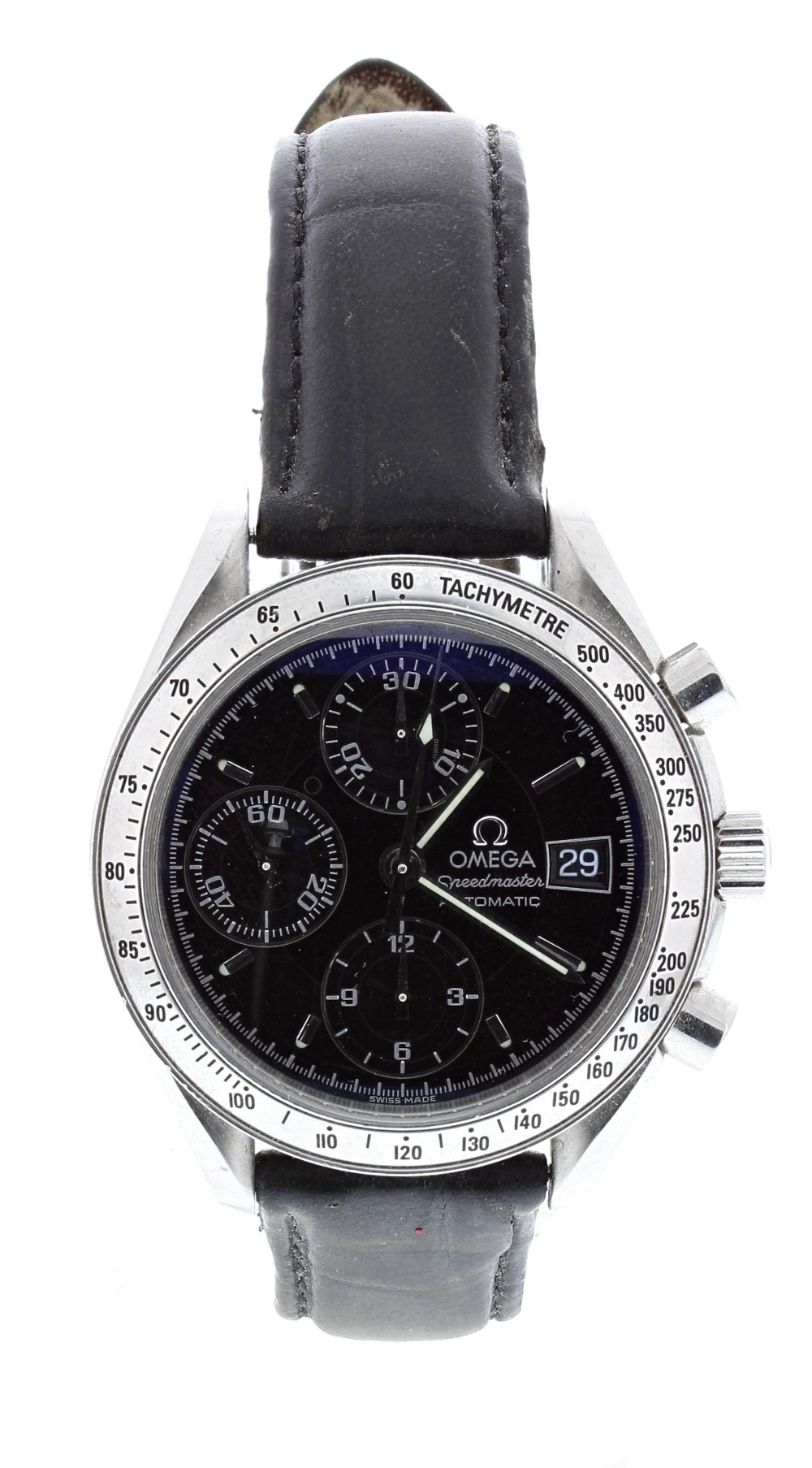 Lot 20 - Omega Speedmaster chronograph automatic stainless steel gentleman's wristwatch, ref. 3813.50CL,