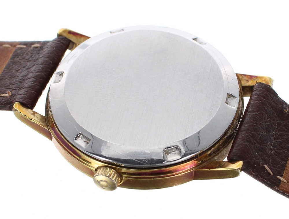 Lot 9 - Omega Genéve automatic gold plated and stainless steel gentleman's wristwatch, ref. 166 0163,
