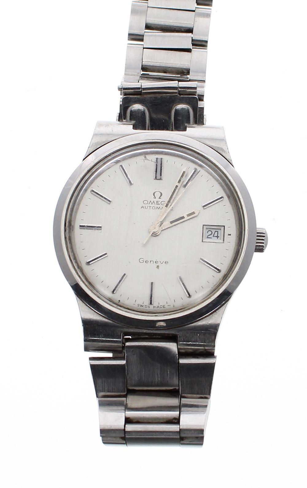 Lot 11 - Omega Genéve automatic stainless steel gentleman's bracelet watch, ref. 166 0173 / 366 0832, circa