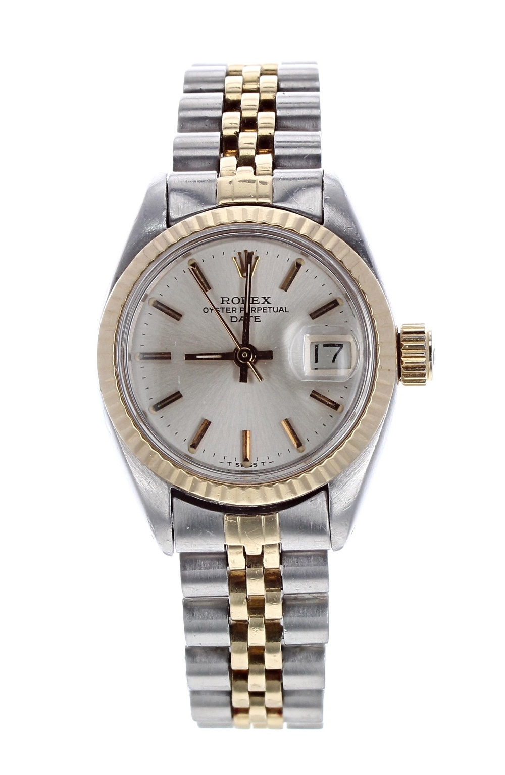 Lot 30 - Rolex Oyster Perpetual Datejust gold and stainless steel lady's bracelet watch, ref. 6917, circa