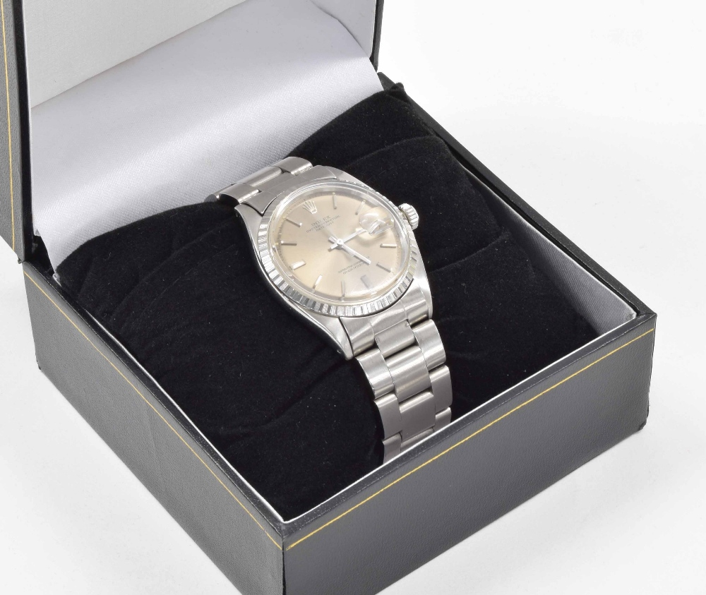 Lot 31 - Rolex Oyster Perpetual Datejust stainless steel gentleman's bracelet watch, ref. 1603, circa 1970,