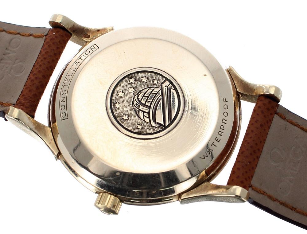 Lot 15 - Omega Constellation 14k automatic 'bumper' gentleman's wristwatch, ref. 2782 2799, circa 1954,