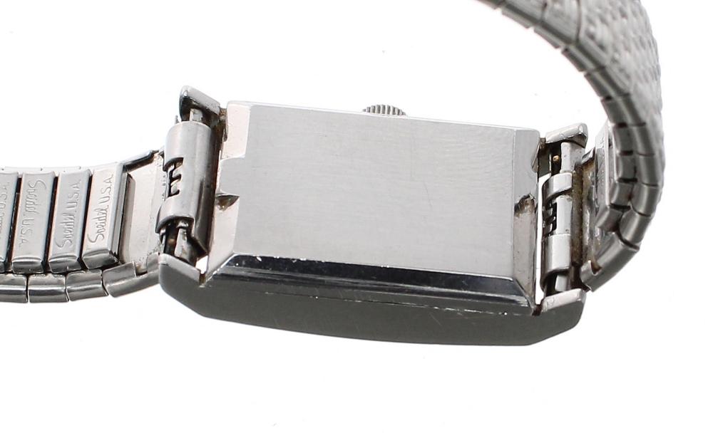 Lot 17 - Omega Ladymatic rectangular stainless steel lady's bracelet watch, ref. 551.015, circa 1965,