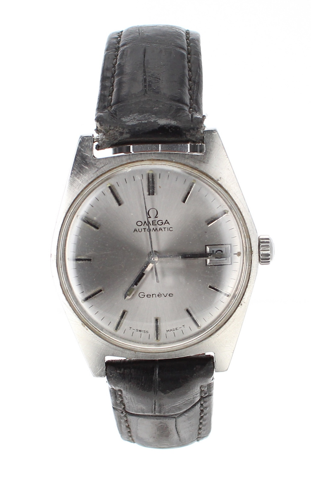 Lot 13 - Omega Genéve automatic stainless steel gentleman's wristwatch, ref. 166041, circular silvered dial