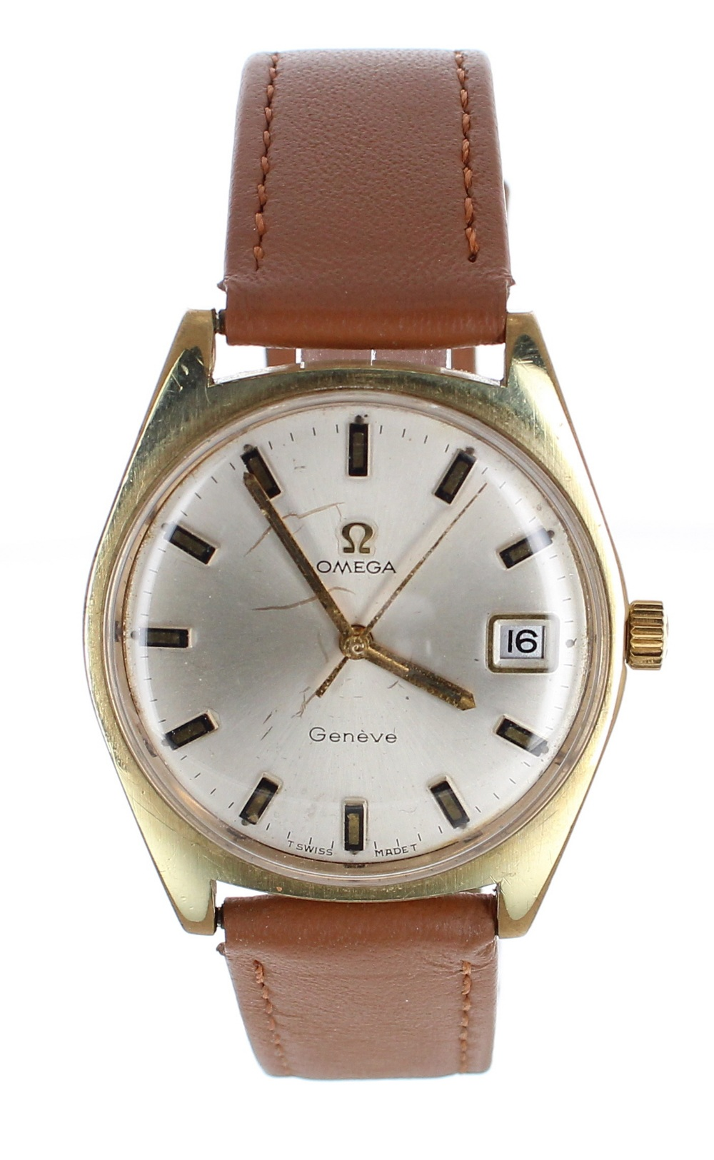 Lot 6 - Omega Genéve gold plated and stainless steel gentleman's wristwatch, ref. 136.041, circa 1970,