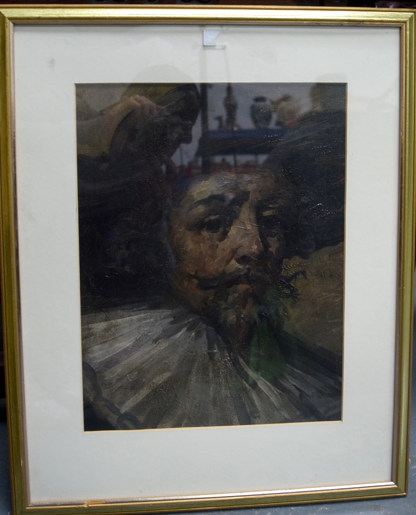 Lot 2787 - EUROPEAN SCHOOL (Early 20th century) FRAMED OIL ON CANVAS STRETCHED ON BOARD, portrait of Rembrandt