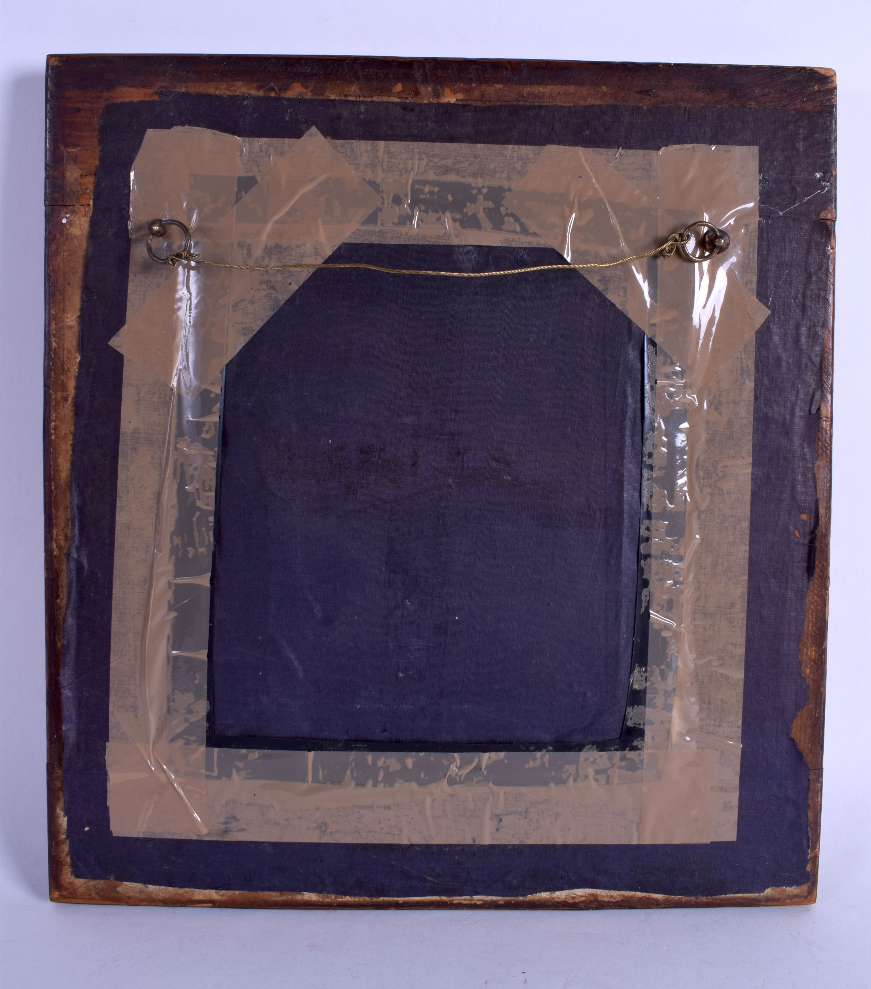 A QUEEN ANNE OYSTER WOOD FRAME containing a late Regency watercolour of a gentleman. Frame 30 cm x - Image 3 of 10