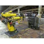 6-AXIS FANUC S-420iW ROBOT, S/N R00903279 (2000), TYPE A05B-1313-B511, R-J2 CONTROL, SPOT WELDER