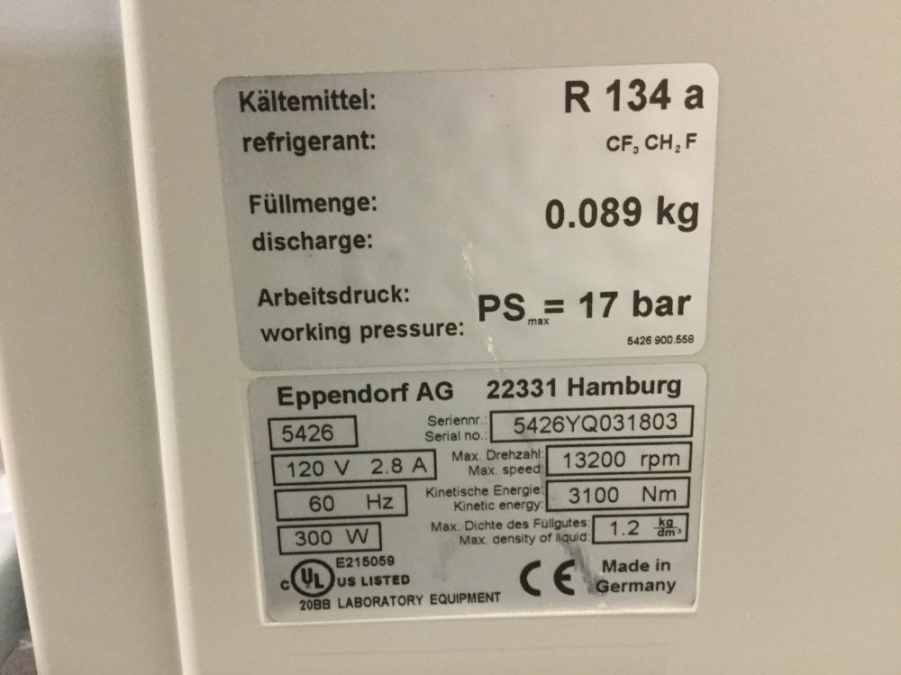 Lot 23 - Eppendorf 5415R Centrifuge