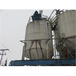 Lot 65 - SILO #32 - STEEL TRUCK LOAD OUT W/ LOAD , CELLS APPROX. 10 FOOT DIA. X 20 FOOT HIGH