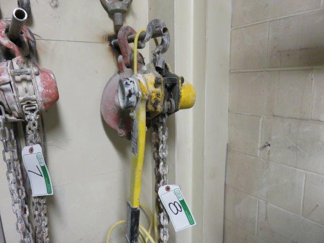 Lot 8 - POWER FIST 1-1/2 TON CHAIN COME-A-LONG, , LANDO 8 INCH SWL 8 TON PULLEY BLOCK