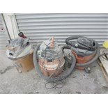 Lot 90 - (3) SHOP VACUUMS