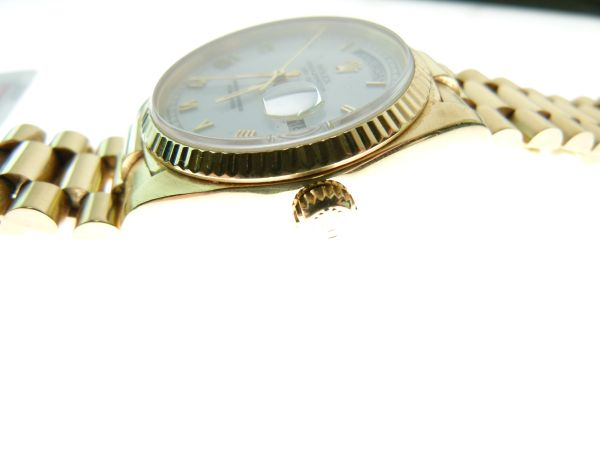 Lot 18 - Rolex - Gentleman's 18ct gold Oyster Perpetual Day Date wristwatch, ref: 18038, with 18ct gold