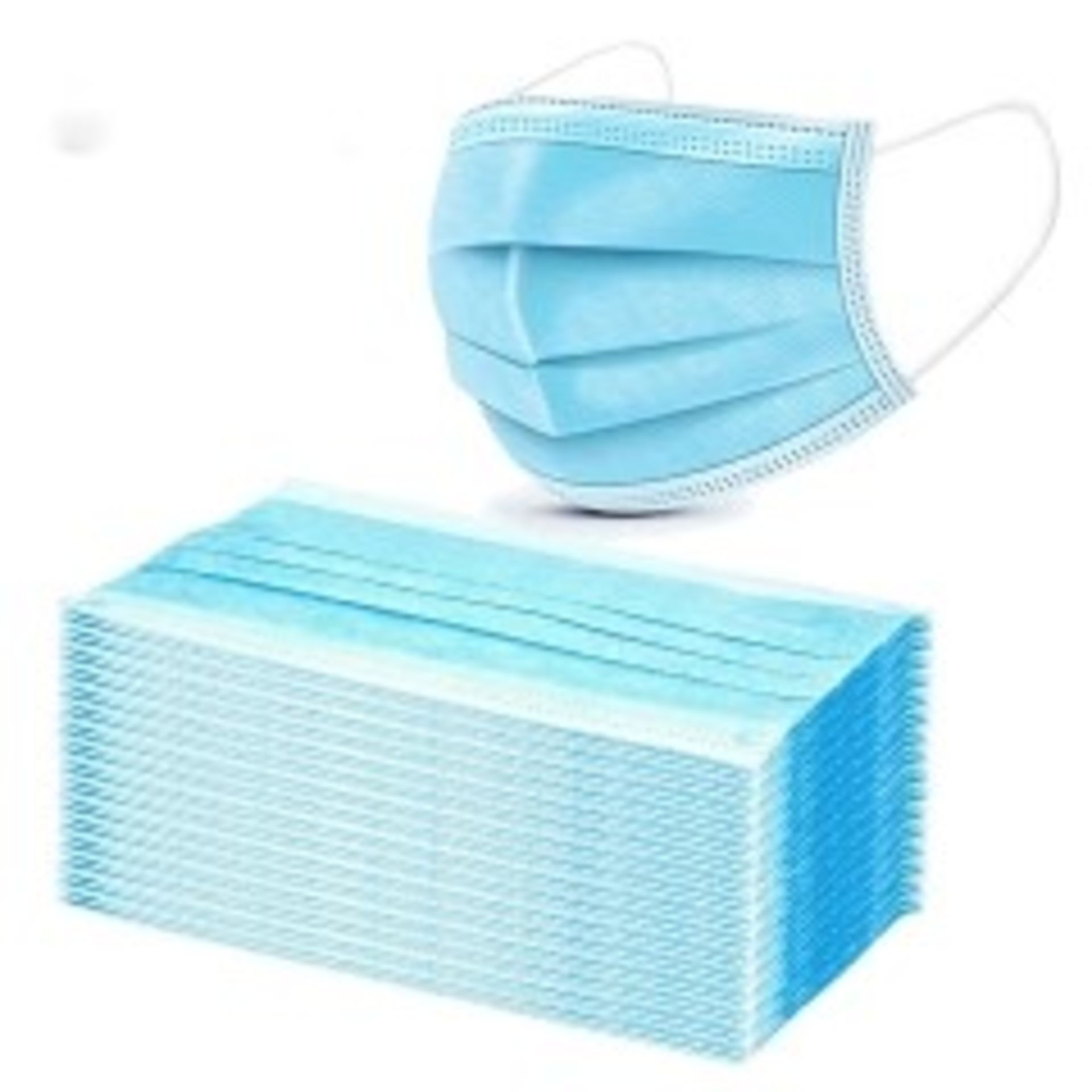 100 IN TOTAL 3 X PLY DISPOSABLE FACE MASKS *NO VAT*