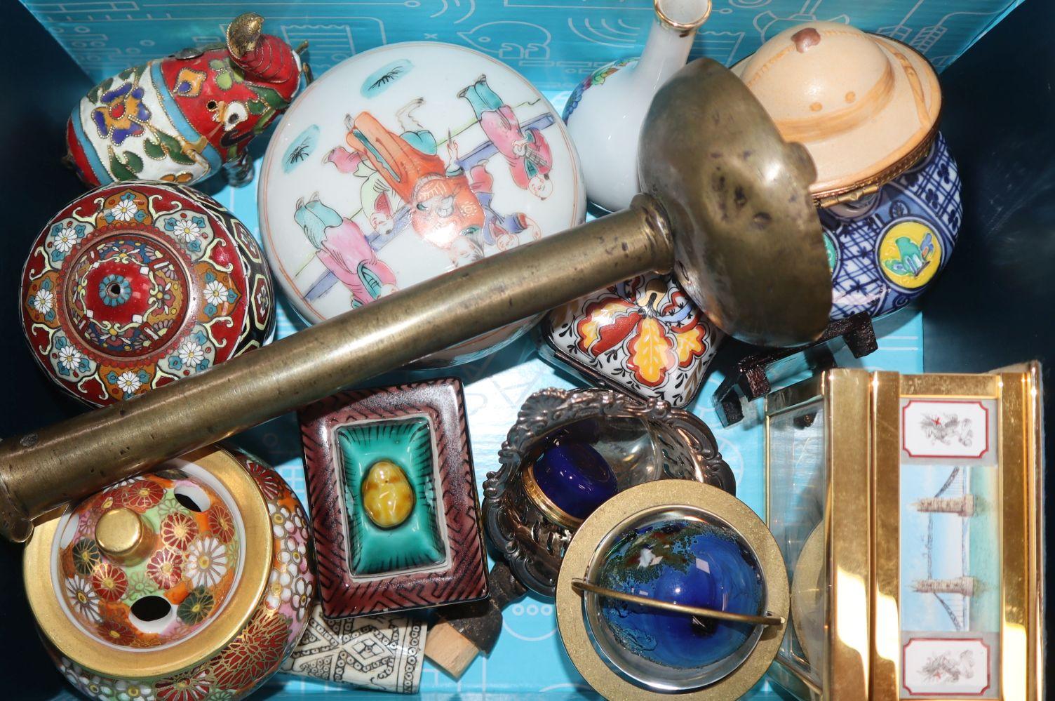 Sundry ceramics and ornaments including a Moorcroft vase