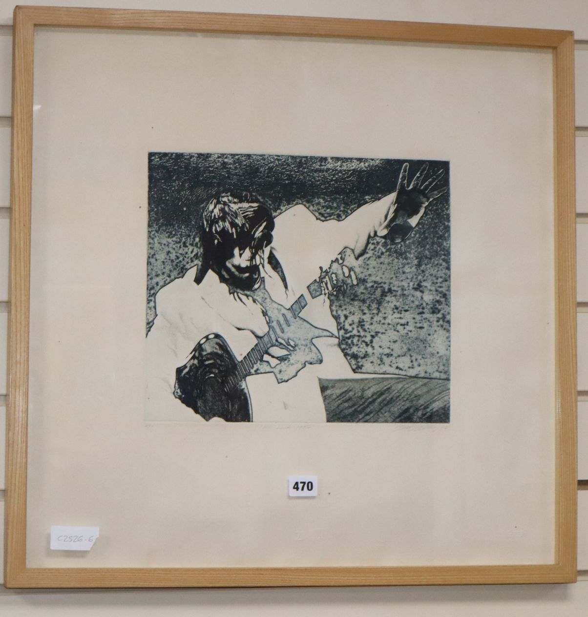 Lot 470 - David Oxtoby (b.1938), limited edition print, Mr Rock 1956, signed and dated '74, 2/50, 57 x 58cm