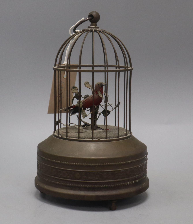Lot 11 - An Automaton musical bird cage