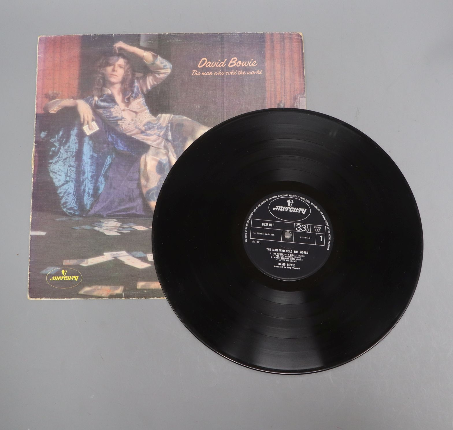 Lot 107 - David Bowie - Man who sold the World in Withdrawn Sleeve Exceptionally rare Bowie LP in infamous