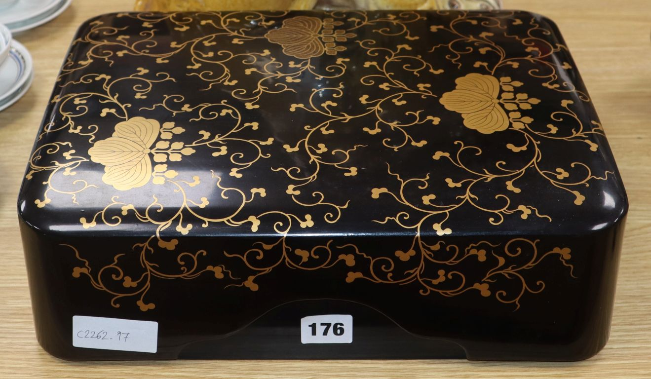 Lot 53 - A lacquered Japanese box