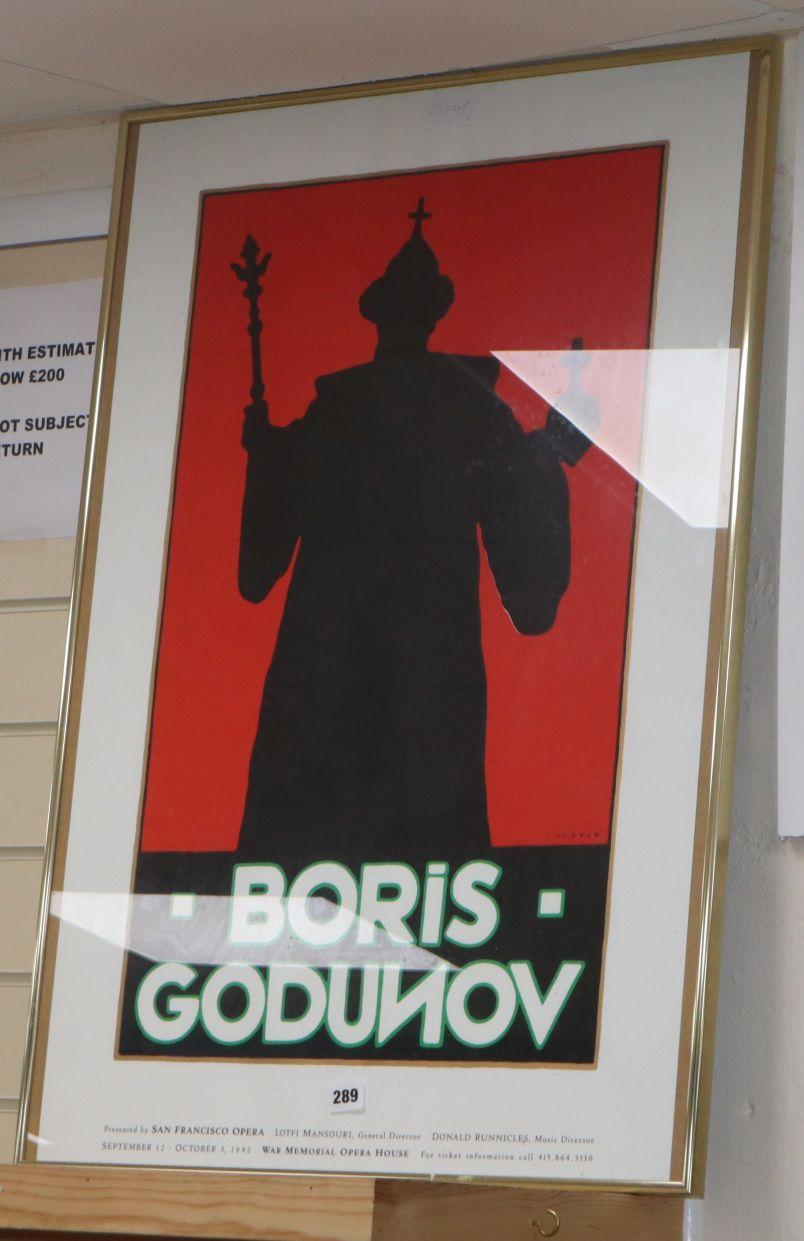 Lot 289 - A San Francisco opera poster