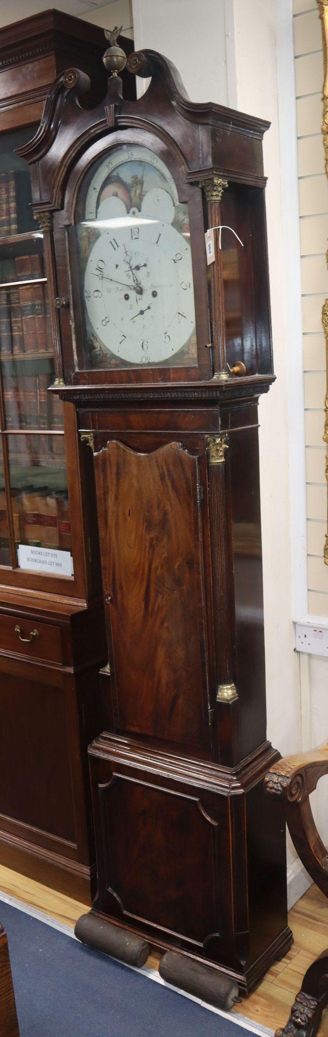 Lot 968 - Nicholas of Birmingham. A George III mahogany eight day longcase clock H.230cm
