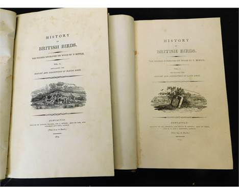 THOMAS BEWICK: HISTORY OF BRITISH BIRDS, Newcastle, 1797-1804, 2 vols, vol 1 printed by Sol Hodgson for Beilby & Bewick a