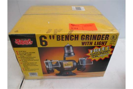 Amazing 6 Bench Grinder W Light 1 2Hp Motor Collins Quality Machost Co Dining Chair Design Ideas Machostcouk
