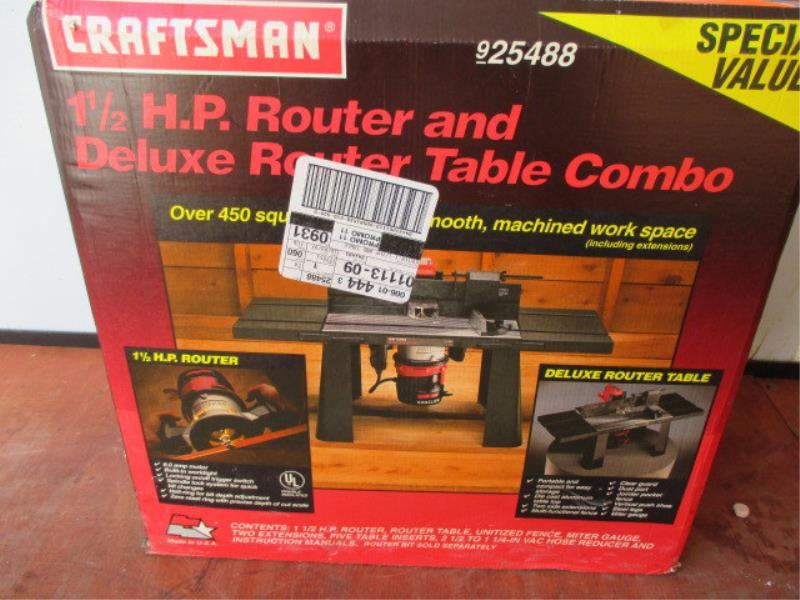 lot 63 craftsman router 1 12 hp and router table combo model