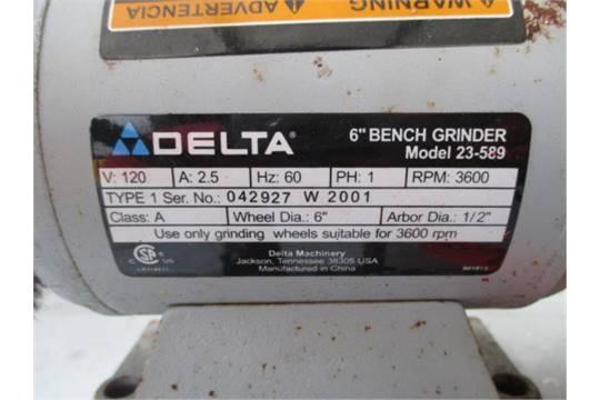 Awesome Delta 6 Bench Grinder Model 23 589 1 2 Arbor W Dailytribune Chair Design For Home Dailytribuneorg