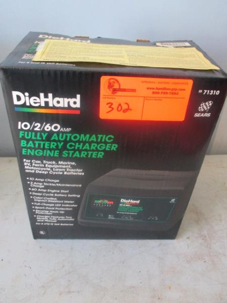 die hard battery charger how to use