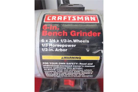 Awesome 6 Bench Grinder Craftsman 6X3 4 X 1 2 Wheels 1 3Hp 1 2 Ibusinesslaw Wood Chair Design Ideas Ibusinesslaworg