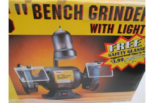 Remarkable 6 Bench Grinder W Light 1 2Hp Motor Collins Quality Andrewgaddart Wooden Chair Designs For Living Room Andrewgaddartcom