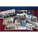 Collection of German military related photographic prints and similar items including German