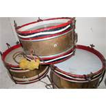 BUF 'Parade Batter', brass carcass stamped Olympic, snare drum (diameter 37cm), a Remo Weatherking