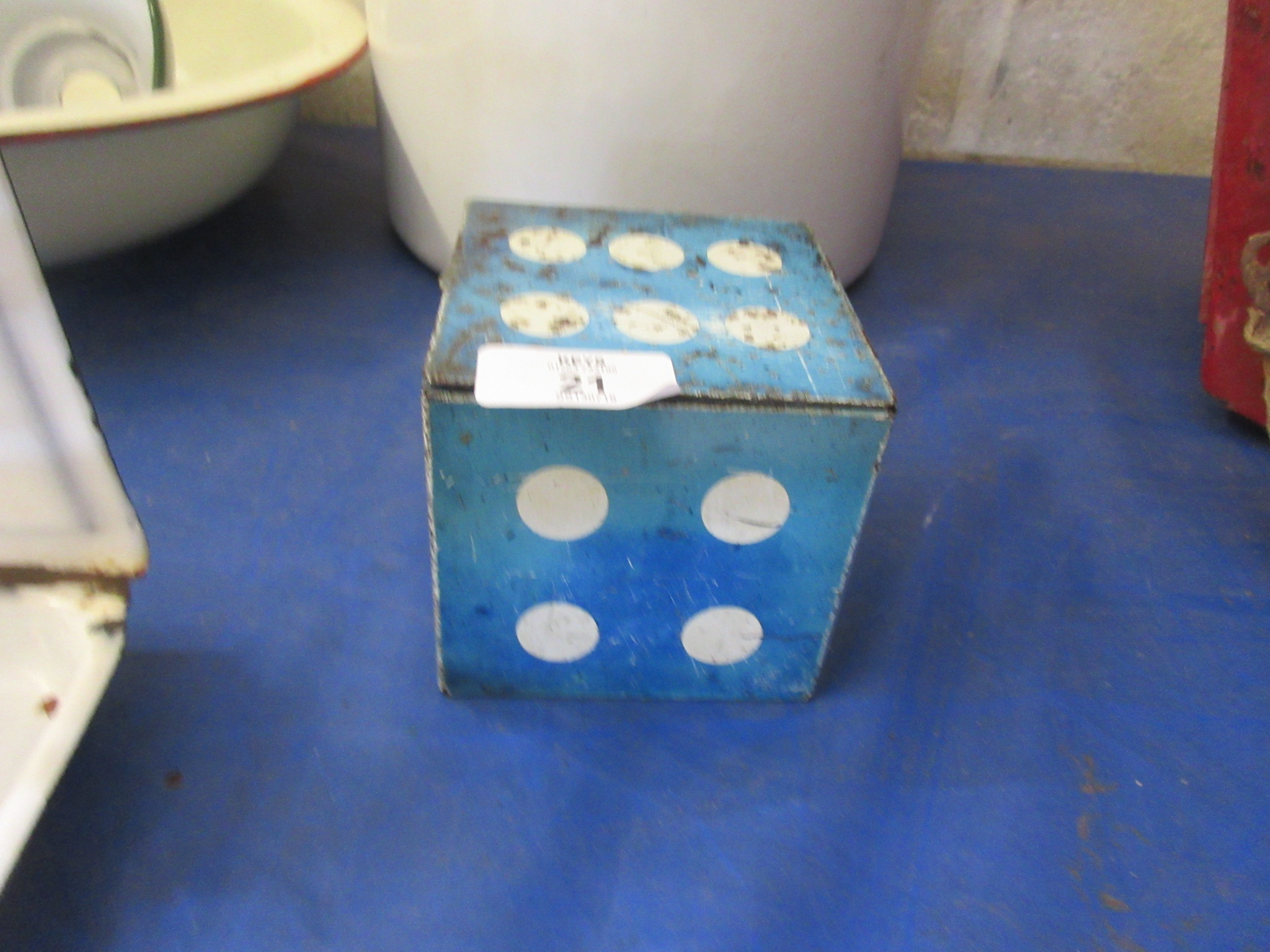 An unusual Hollands toffee tin shapes as a die