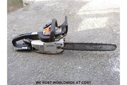 Stihl 012av electronic quickstop chainsaw nearly new chain greentooth Gallery