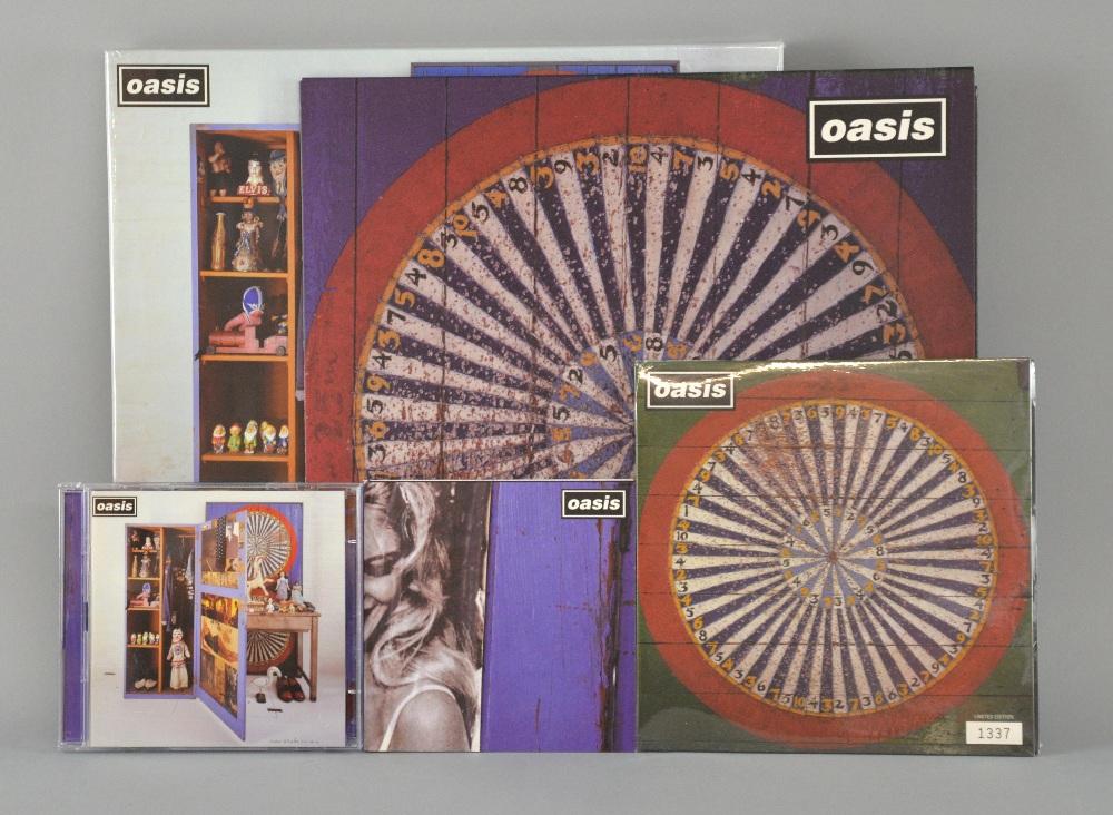 Lot 1133 - Oasis Stop The Clocks, Triple vinyl boxset, 2CD album promo, 2CD album, Champagne Supernova remix