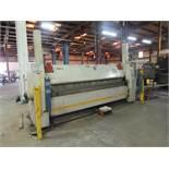 RAS CNC Hydraulic Folding Machine Model Work Center, 180/74.30, S/N 82/40, 128 in. Overall, RAS