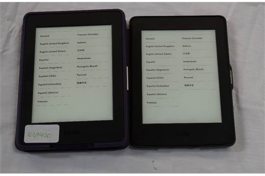 TWO KINDLE PAPERWHITE 3 (2015) WIFI serial numbers: G090 G105 5263