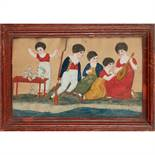 19TH CENTURY BRITISH NAIVE SCHOOL CHILDREN AT PLAY