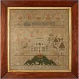 Y LARGE SCOTTISH NEEDLEWORK SAMPLER BY ANN LYON HOPE DATED 1833