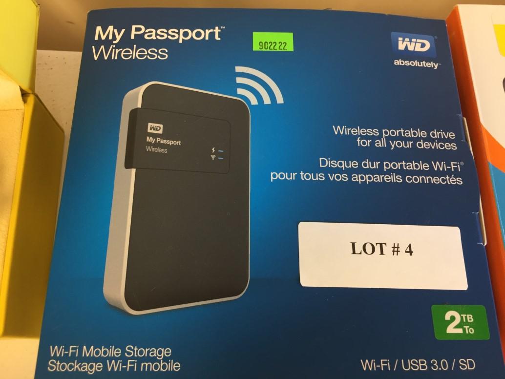 Lot 4 - My Passport Wireless Wifi Mobile Portable Storage