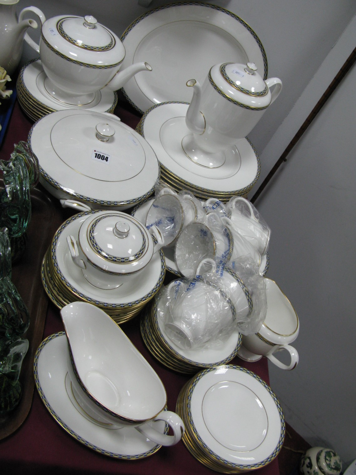 Lot 1004 - A Royal Worcester 'Francesca' Dinner Service, of approximately fifty seven pieces, all 1st quality.