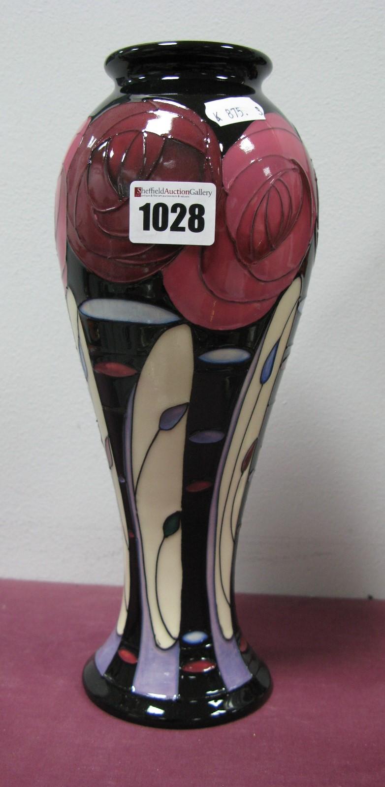 Lot 1028 - A Moorcroft First Quality 'Bellahouston' Vase, shape 75/10, 27cm high.