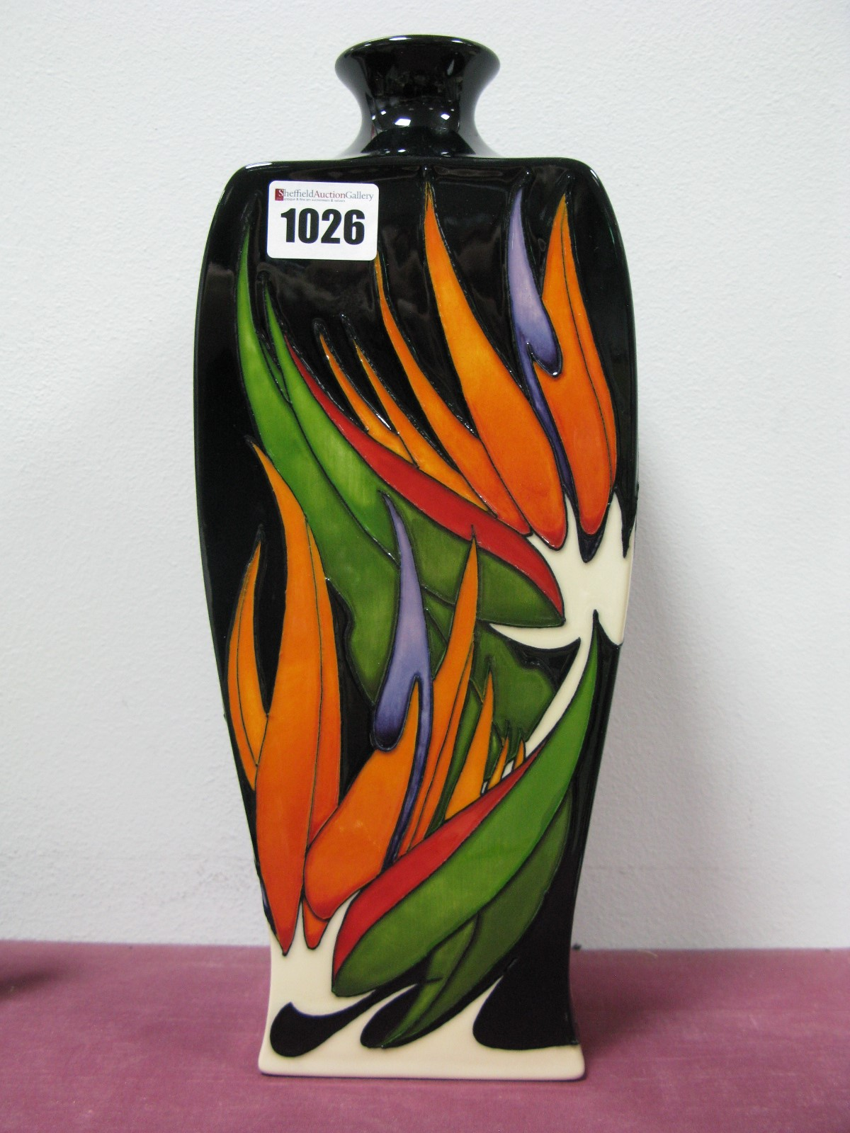 Lot 1026 - A Moorcroft First Quality 'Paradise Found' Vase, shape 39/12, designed by Vicky Lovatt 'Trial' 9.